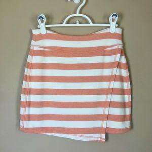 Athleta Mini Skirt 27x14.5 Peach/White Striped XS